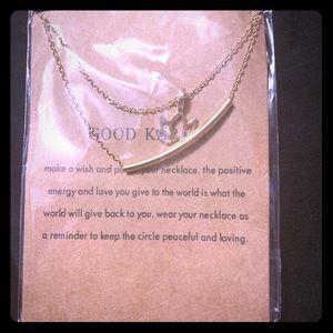 Good karma 2 strand necklace